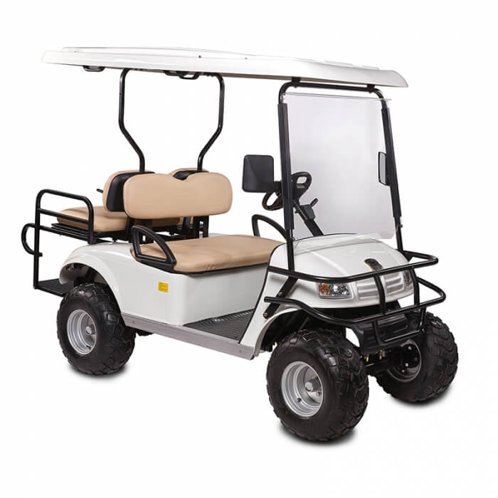 DH-C2 + 2 SHUTTLE 4-Seater Electric Commercial Cart4